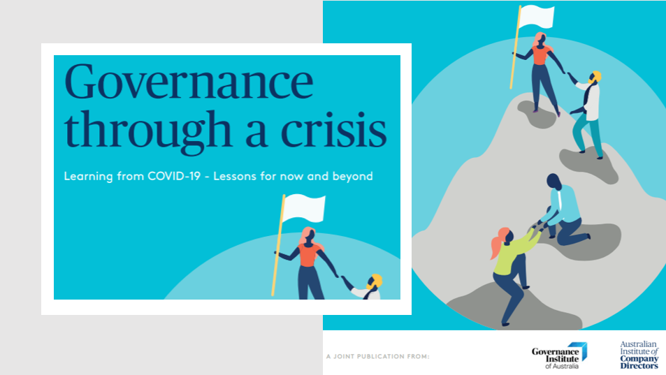 Leadership Management Qualities - AICD and Governance Institute launch new report: Governance through a crisis