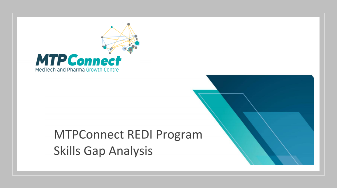 Market Research Pharma Biotech MedTech - New MTPConnect report identifies skills priorities for future workforce in Pharma, MedTech and Biotech