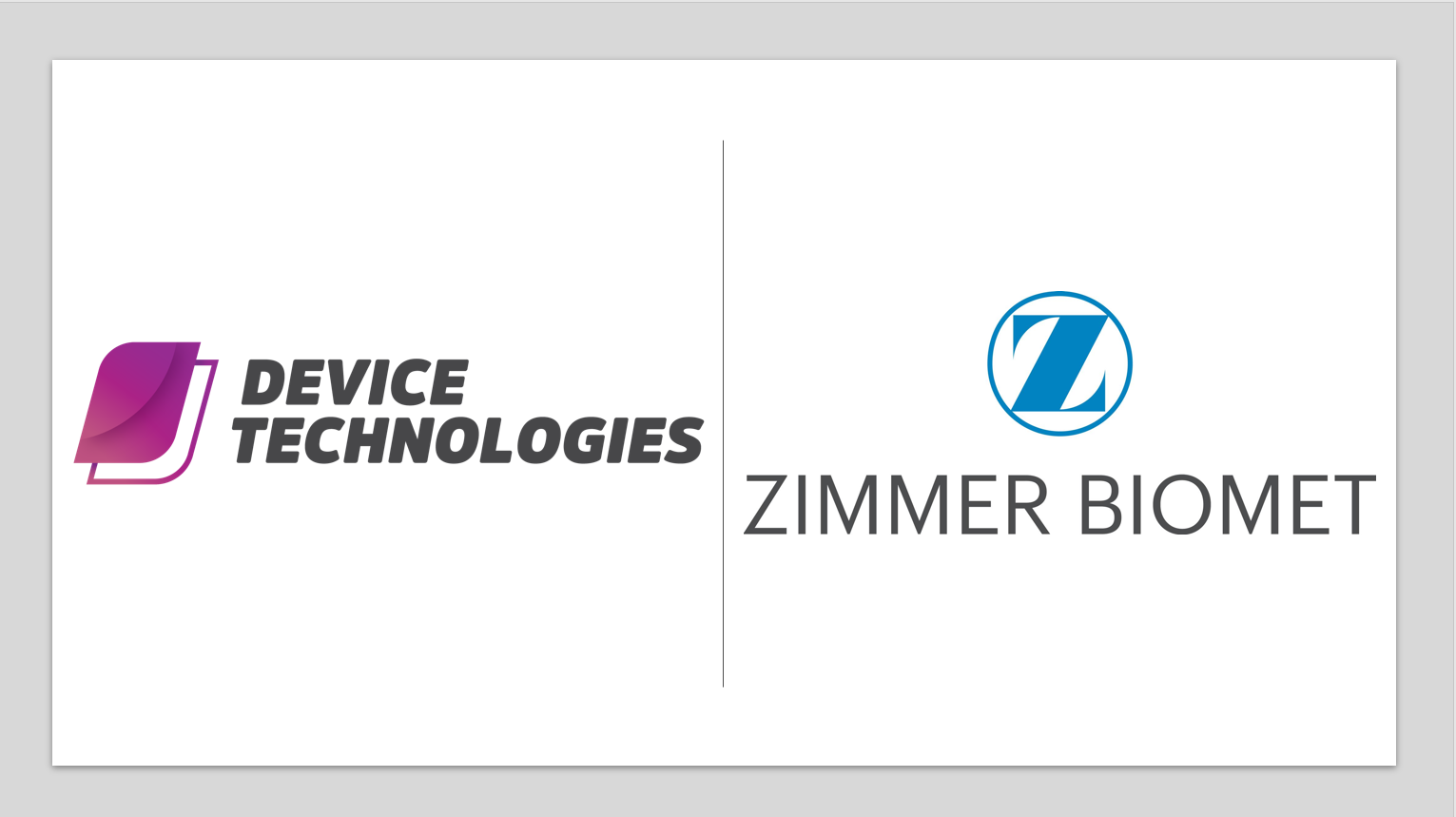 MedTech News - Zimmer Biomet and Device Technologies announce partnership in orthopaedics