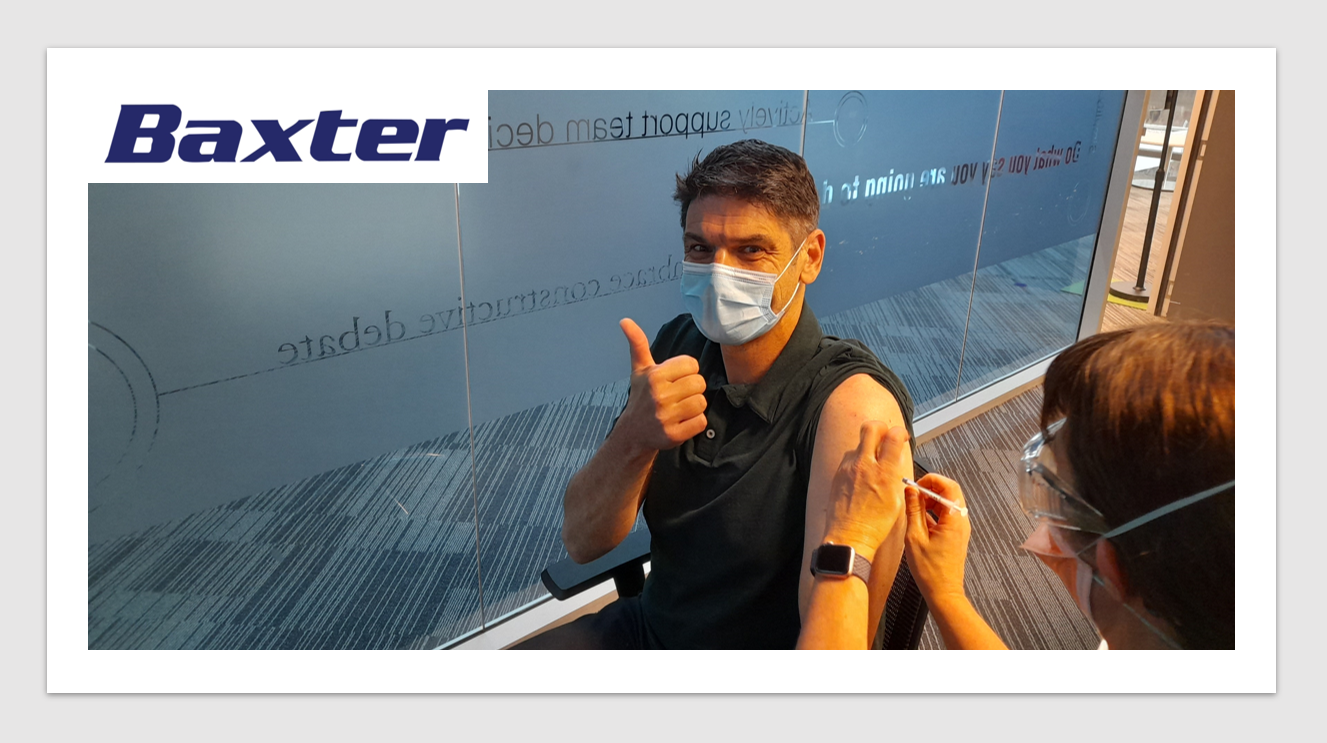 MedTech News - Baxter Healthcare launches on-site pop-up COVID vaccination clinic
